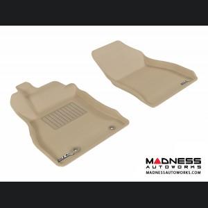 Nissan Juke Floor Mats (Set of 2) - Front - Tan by 3D MAXpider