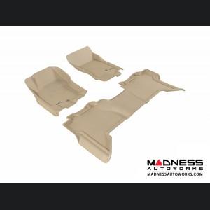 Nissan Pathfinder Floor Mats (Set of 3) - Tan by 3D MAXpider