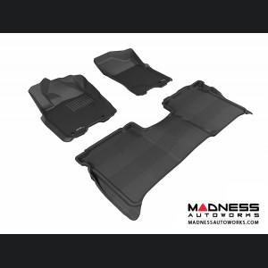 Nissan Titan Crew Cab Floor Mats (Set of 3) - Black by 3D MAXpider