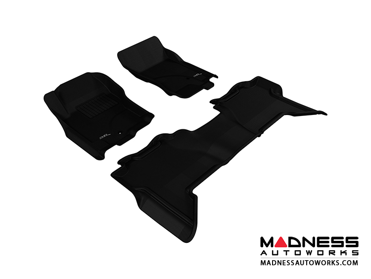 Nissan Xterra Floor Mats (Set of 3) - Black by 3D MAXpider