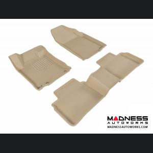 Nissan Altima Sedan Floor Mats (Set of 3) - Tan by 3D MAXpider