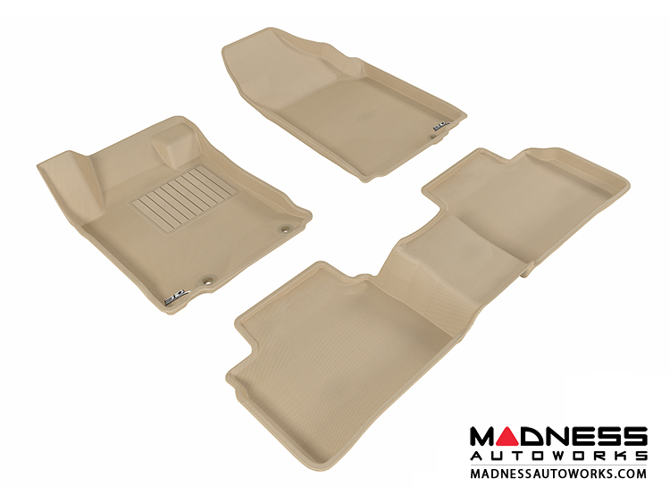 Nissan Altima Sedan Floor Mats (Set of 3) - Tan by 3D MAXpider