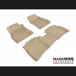 Nissan Sentra Floor Mats (Set of 3) - Tan by 3D MAXpider