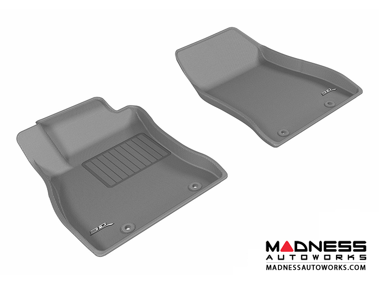 Nissan Sentra Floor Mats (Set of 2) - Front - Gray by 3D MAXpider