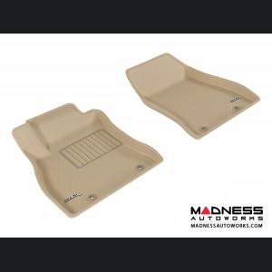 Nissan Sentra Floor Mats (Set of 2) - Front - Tan by 3D MAXpider