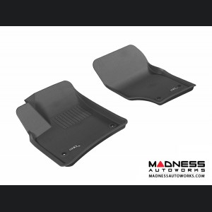 Porsche Cayenne Floor Mats (Set of 2) - Front - Black by 3D MAXpider