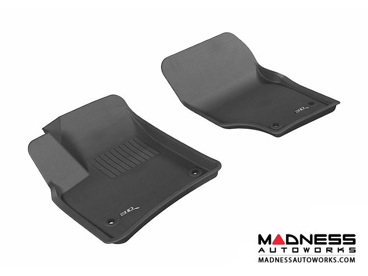 Volkswagen Touareg Floor Mats (Set of 2) - Front - Black by 3D MAXpider