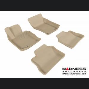 Porsche Panamera Floor Mats (Set of 4) - Tan by 3D MAXpider