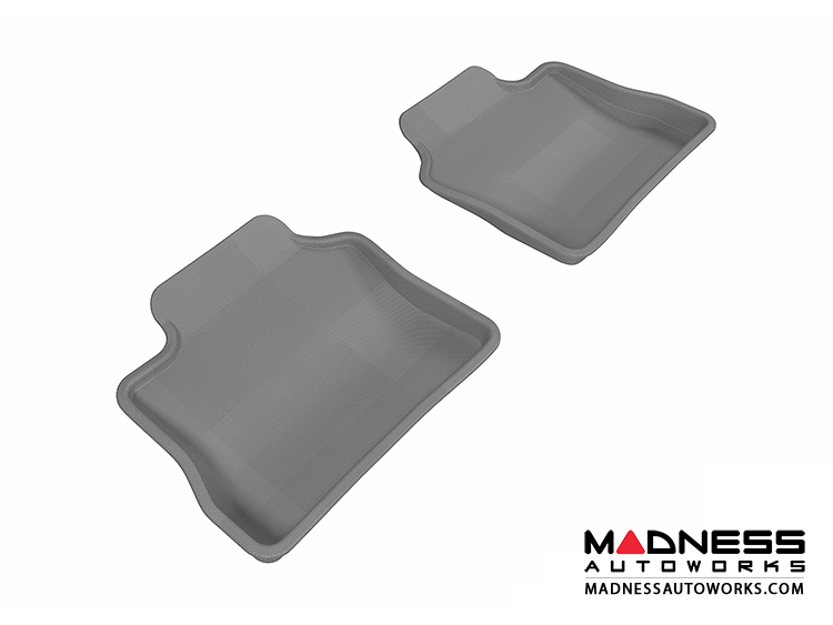 Porsche Panamera Floor Mats (Set of 2) - Rear - Gray by 3D MAXpider