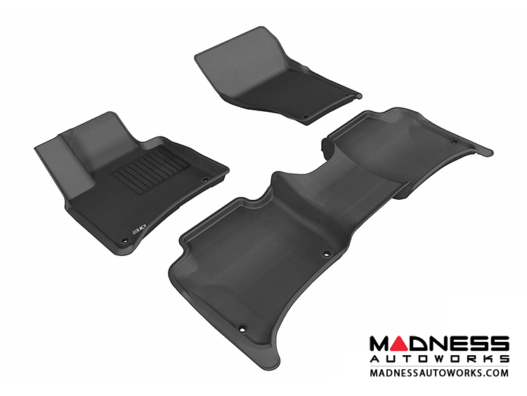 Porsche Cayenne Floor Mats (Set of 3) - Black by 3D MAXpider