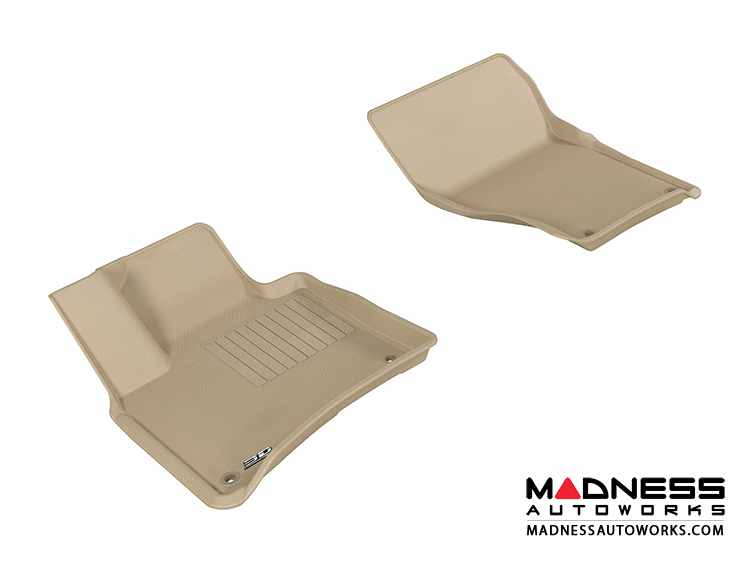 Volkswagen Touareg Floor Mats (Set of 2) - Front - Tan by 3D MAXpider