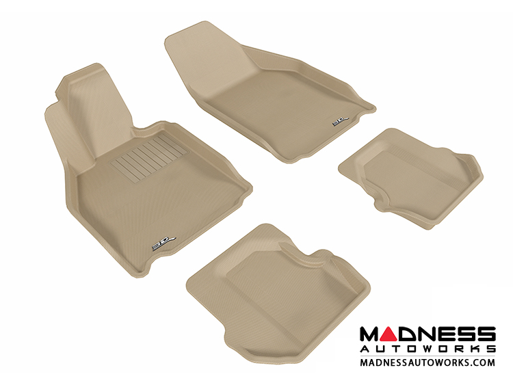 Porsche 911 Floor Mats (Set of 4) - Tan by 3D MAXpider