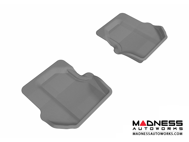 Porsche 911 Floor Mats (Set of 2) - Rear - Gray by 3D MAXpider