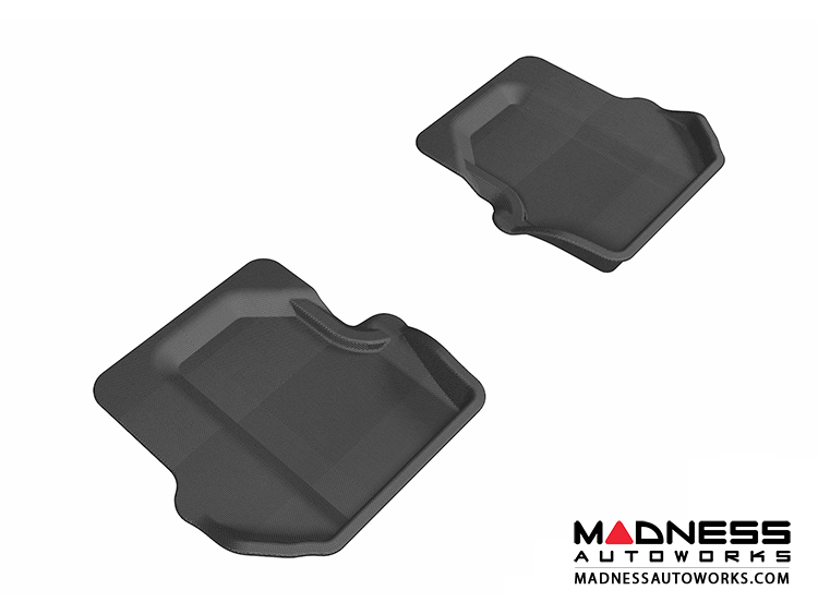 Porsche 911 Floor Mats (Set of 2) - Rear - Black by 3D MAXpider