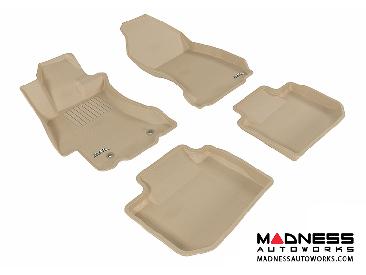 Subaru Impreza Sedan Floor Mats (Set of 4) - Tan by 3D MAXpider