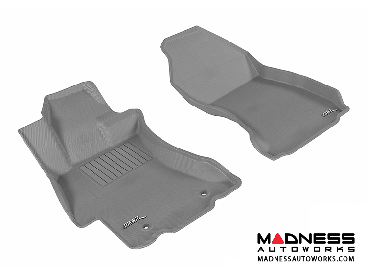 Subaru XV Crosstrek Floor Mats (Set of 2) - Front - Gray by 3D MAXpider