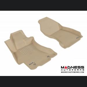 Subaru XV Crosstrek Floor Mats (Set of 2) - Front - Tan by 3D MAXpider