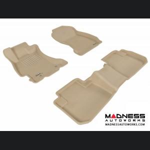 Subaru Forester Floor Mats (Set of 3) - Tan by 3D MAXpider