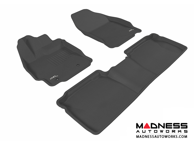 Scion TC Floor Mats (Set of 3) - Black by 3D MAXpider