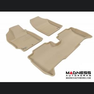 Scion XD Floor Mats (Set of 3) - Tan by 3D MAXpider