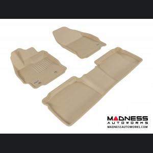 Scion TC Floor Mats (Set of 3) - Tan by 3D MAXpider
