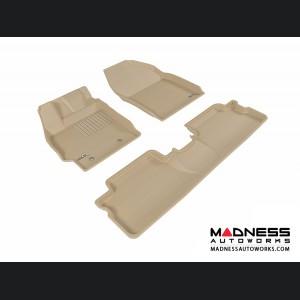 Scion XB Floor Mats (Set of 3) - Tan by 3D MAXpider