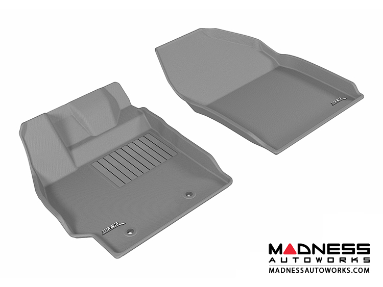 Scion XB Floor Mats (Set of 2) - Front - Gray by 3D MAXpider