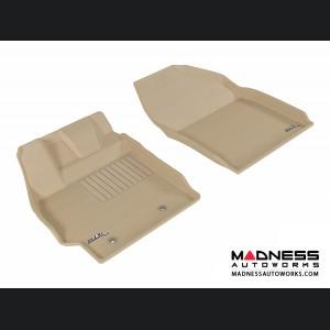 Scion XB Floor Mats (Set of 2) - Front - Tan by 3D MAXpider