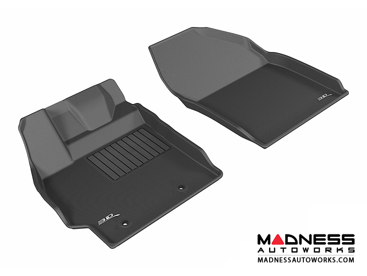 Scion XB Floor Mats (Set of 2) - Front - Black by 3D MAXpider