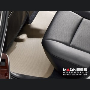 Volkswagen Touareg Floor Mat - Rear - Tan by 3D MAXpider