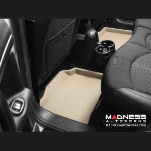 Audi A6/ S6/ RS6 Floor Mats (Set of 2) - Rear - Tan by 3D MAXpider (2005-2011)