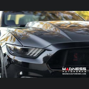Ford Mustang Double Sided Cowl hood - Carbon Fiber - (2015-2017)