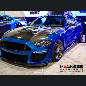 Ford Mustang Fiber Glass Bumper & Front Lip - Carbon Fiber - Type ST - (2018-2019)