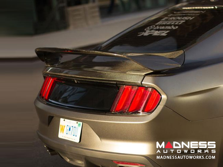 Ford Mustang Rear Spoiler by Anderson Composites - Carbon Fiber - GT350r Style - Type GR