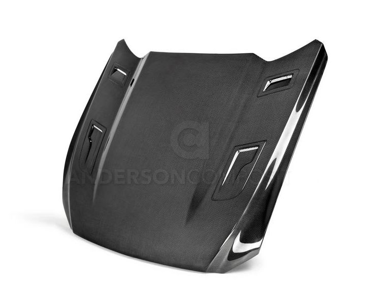 Ford Mustang Hood by Anderson Composites - Carbon Fiber - GTH Style