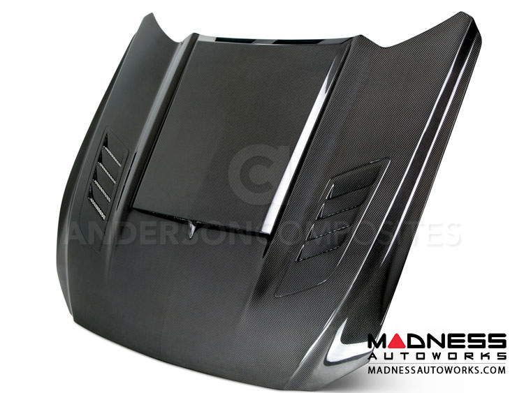"Ford Mustang Hood by Anderson Composites - ""Ram Air"" - Carbon Fiber"