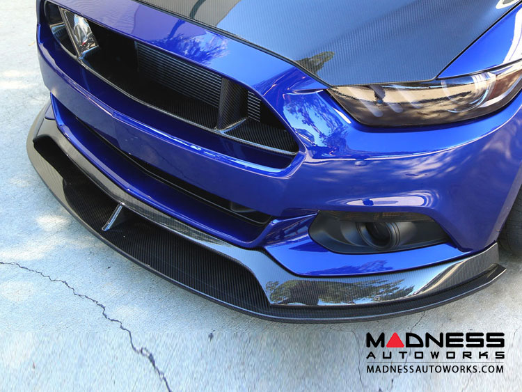 Ford Mustang Front AR Front Chin Splitter by Anderson Composites - Carbon Fiber