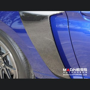 Ford Mustang Side Scoops by Anderson Composites - Carbon Fiber Pair