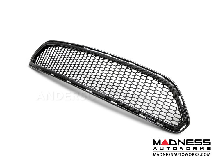 Ford Mustang Upper Grill by Anderson Composites - Carbon Fiber