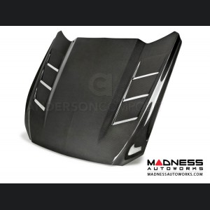 """Ford Mustang Hood by Anderson Composites - """"Heat Extractor"""" - Carbon Fiber"""