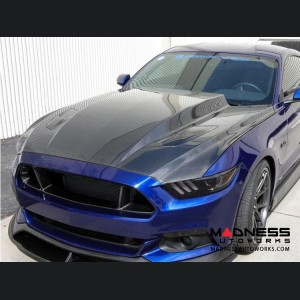 """Ford Mustang Hood by Anderson Composites - Carbon Fiber - """"Cowl"""""""