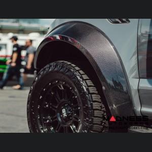 Ford Raptor Front Fender Flares - Type-Wide - Carbon Fiber - Pair