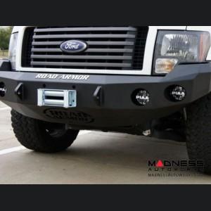 Ford F-150 Stealth Front Winch Bumper - Smittybilt XRC - Raw Steel WARN M12000