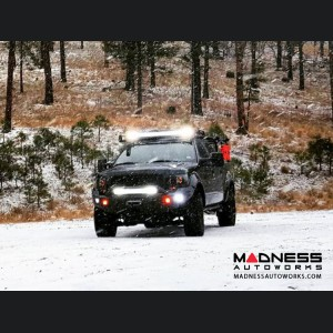 Ford F-150 Stealth Front Winch Bumper Pre-Runner Guard - Smittybilt XRC - Texture Black WARN M12000