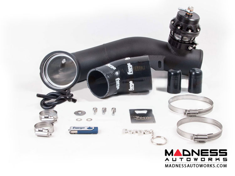 BMW 135 w/N54 Engine Blow Off Valve And Hard Pipe Kit by Forge Motorsport