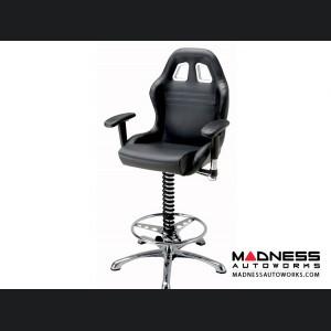 Race Car Style Bar Chair - Targa - Black