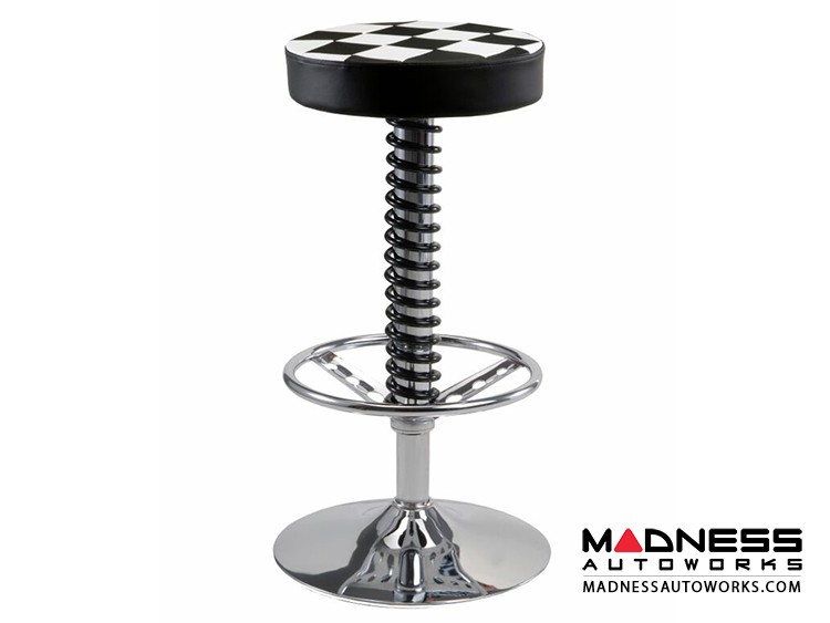 Race Car Style Bar Stool - Sebring - Checkered