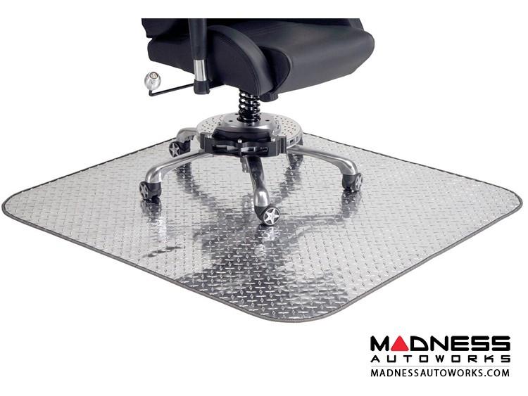 Race Car Style Chair Mat - Diamond Plate Design