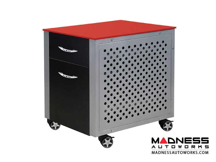 Race Car Style File Cabinet - Red