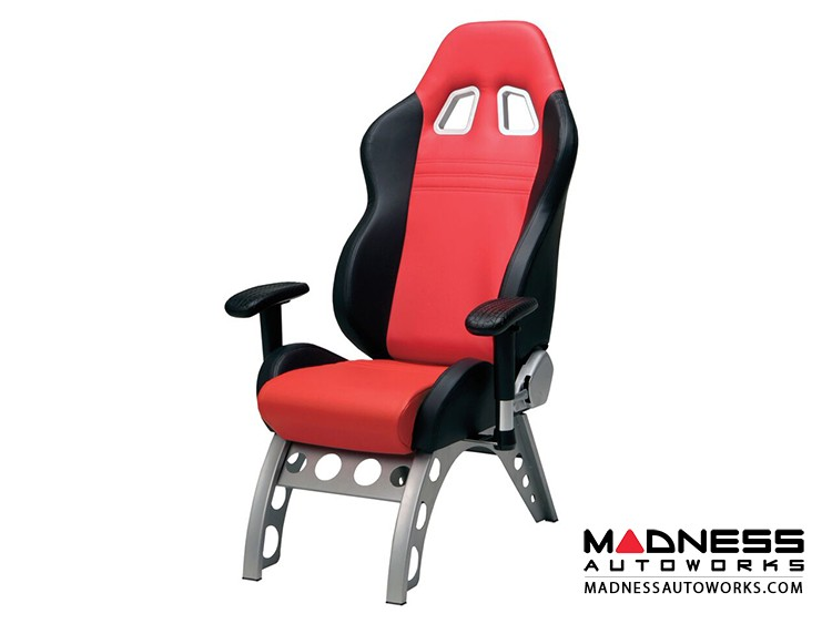 Race Car Style Stationary Chair - Monza - Red